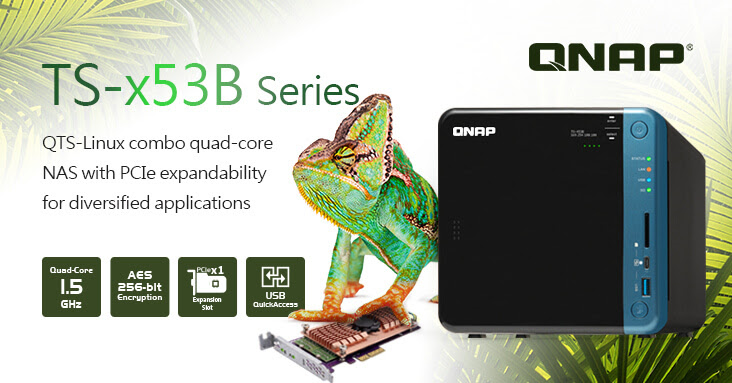QNAP Rolls Out Quad-core TS-x53B Series NAS