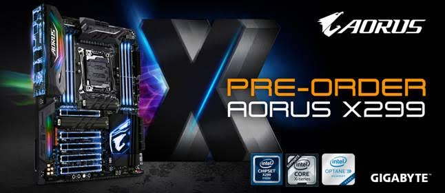 GIGABYTE Launches Pre-Orders for X299