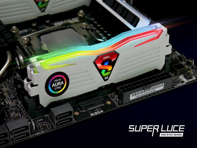 GeIL Announced SUPER LUCE RGB Series Gaming Memory Featuring RGB Illumination