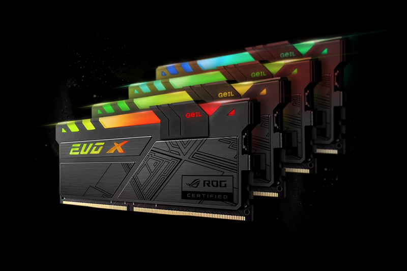 GeIL Announced World's First Fully RGB DDR4 Memory with ASUS ROG Certification