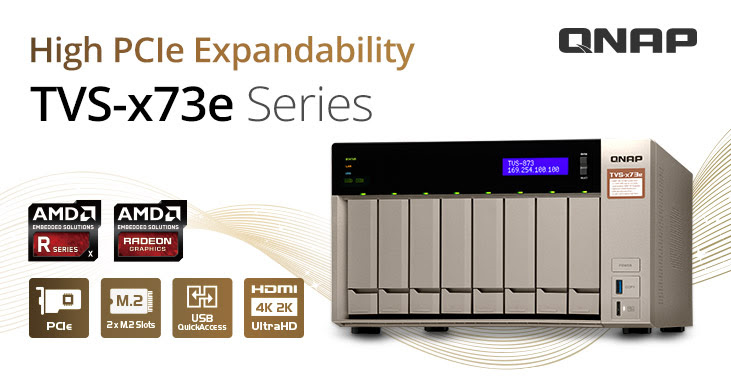 QNAP Introduces TVS-x73e 4/6/8-bay NAS