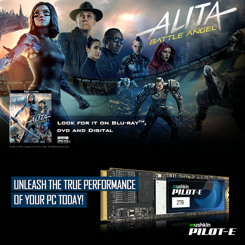 Mushkin Alita Battle Angel sweepstakes