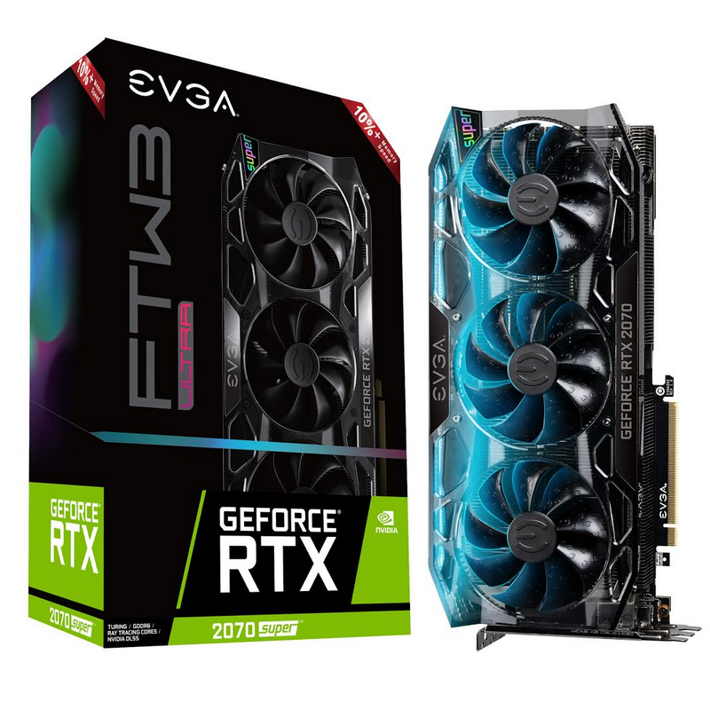 EVGA GeForce RTX 2070 SUPER ULTRA+ with 10%+ Memory Speed