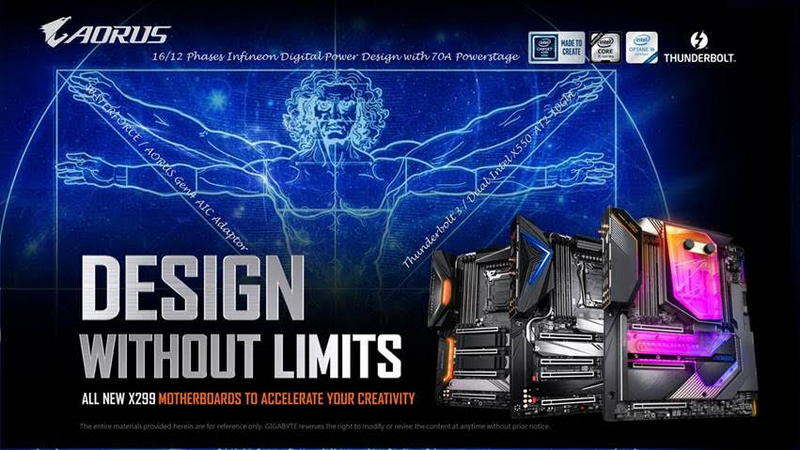 Upcoming GIGABYTE X299X Motherboards