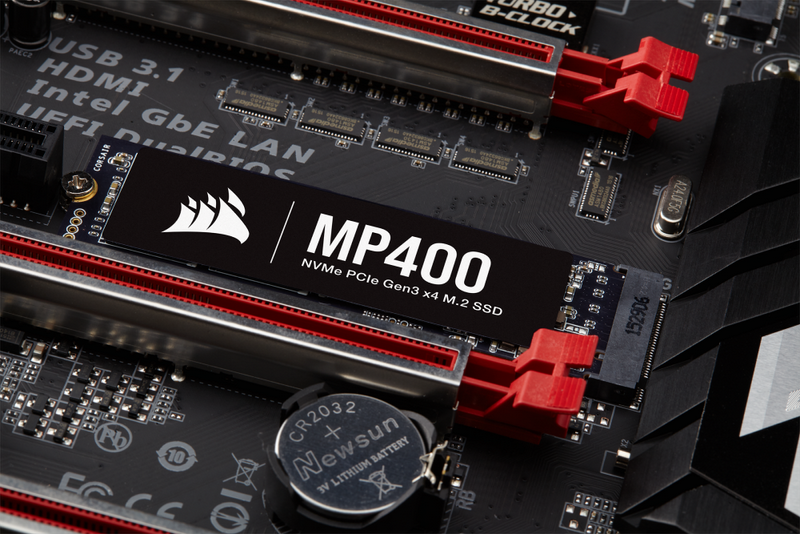 CORSAIR Launches MP400, a New M.2 NVMe SSD with High-Density 3D QLC NAND