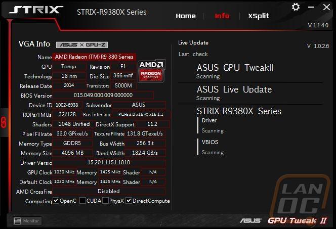 Asus R9 380X Strix OC - LanOC Reviews