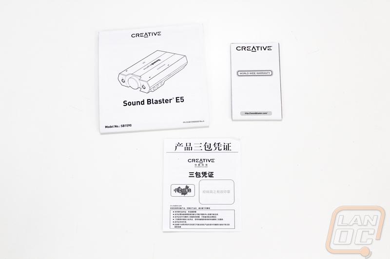 Sound Blaster E5 - LanOC Reviews