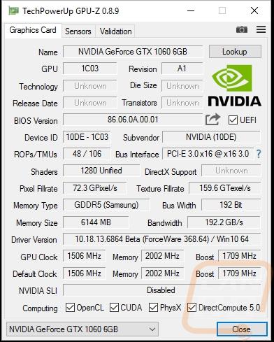 Nvidia GTX 1060 Founders Edition - LanOC Reviews