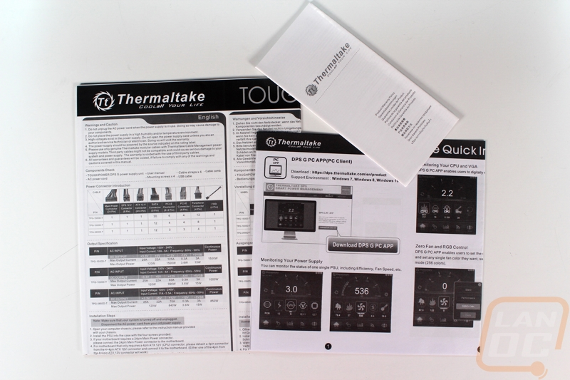 Thermaltake Toughpower DPS G RGB 850 W Titanium - LanOC Reviews