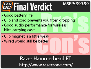 Razer Hammerhead BT - LanOC Reviews