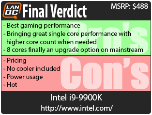 Intel i9-9900K - LanOC Reviews
