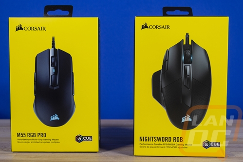 Corsair M55 RGB Pro and Nightsword RGB